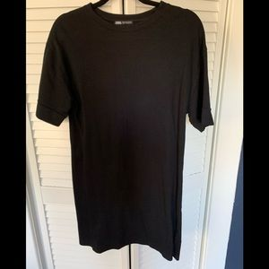 ZARA Black T-shirt Dress - S